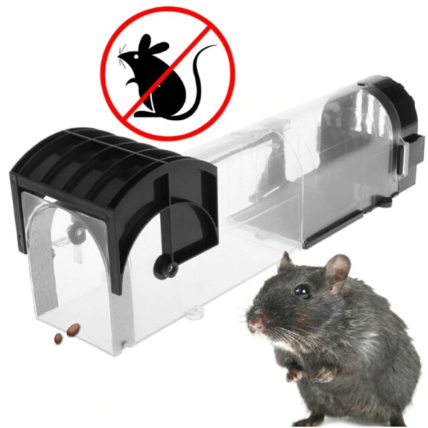 Transparent Mouse Catcher Reusable Smart Mouse Trap Humane Clear Plastic Smart No Kill Rodents Catcher Plastic Rat Trap