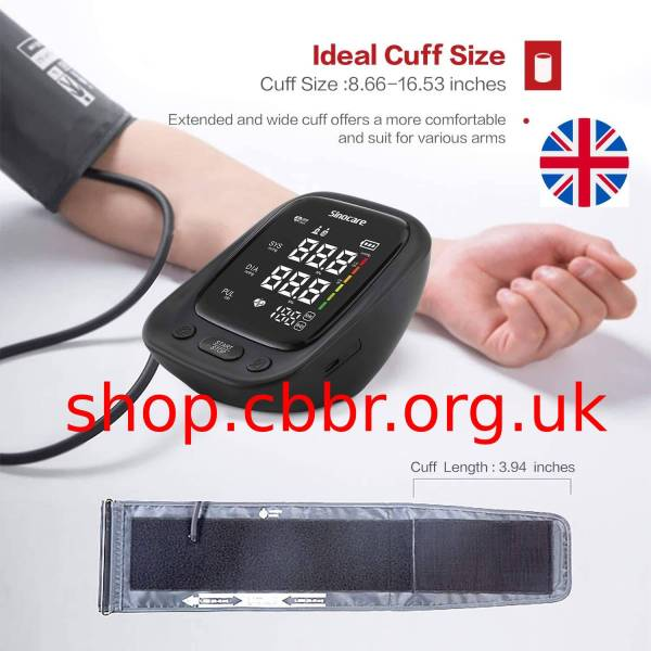 Blood Pressure Monitor Medical Health Automatic Upper Arm Digital Backlit Display Machine BP Heart Rate Pulse