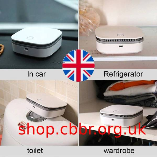 Mini Air Purifier Smart Portable Fridge Freshen Air Cleaner Ozone Anion Generator USB Rechargeable Kitchen Auto Home Clear Odor
