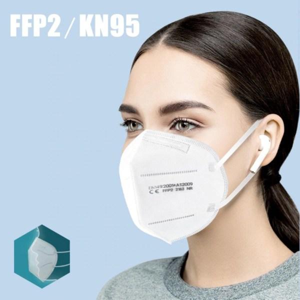 10PCS Per Bag FFP2 Mask KN95 Protective mascarilla fpp2 homologada Matter Disposable 95% Mascarilla Cover Adult ffp2masks