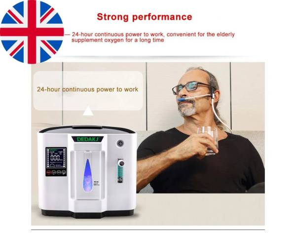 Portable Oxygen Concentrator Generator Oxygen Machine Home Air Purifier 93% High Purity 1-6L/min Flow AC 220V Timing Control for