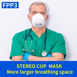 XNUO 5PCS KN95 face Masks 4 Layers CE FFP3 Ear hook Mouth PM2.5 Face Mask Personal Protective Reusable Adult