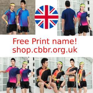 Free print name! Men/Women Badminton shirt,sports badminton shorts,Table Tennis jerseys,Tennis shirts train clothes, Football