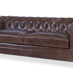Leather Sectional Sofa Tufted Modern Design