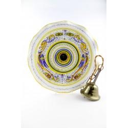 Su richiesta sono disponibili altre finiture metallo. Lampadario In Maiolica Dipinto A Mano A Deruta In Bottega Di Ceramica