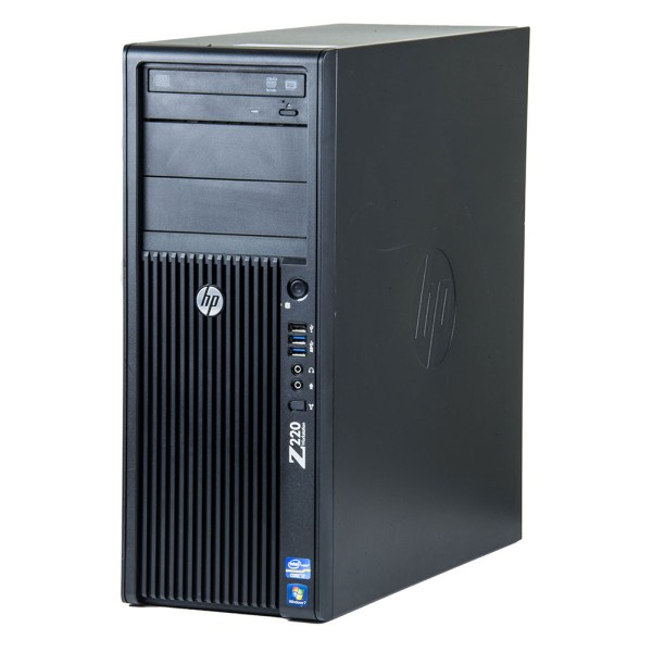 HP Z220 CMT Workstation Tower - Intel® Xeon® QuadCore E3-1245 V2, 16GB DDR3, SSD 256GB, DVD, W10 Pro.