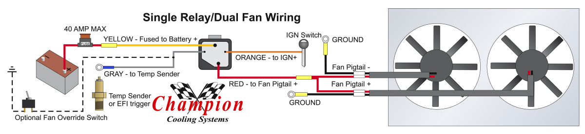 Electric Cooling Fan Relay Wiring Diagram On Derale Fan Wiring ... on thermostat wiring diagram, hot rod wiring diagram, derale oil cooler wiring diagram, fan wiring diagram, electric fuel pump wiring diagram,