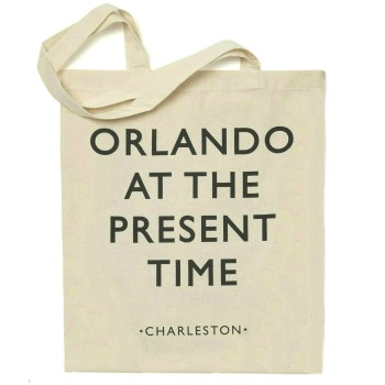 Orlando at the present time Exhibition tote bag
