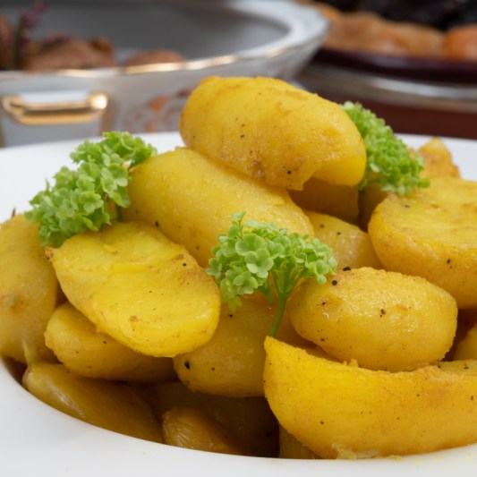 Pomme de terre safrané charles traiteur