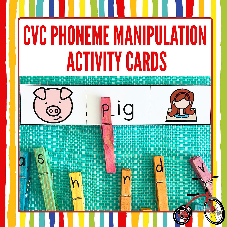 Cvc Words Phoneme Manipulation Cards