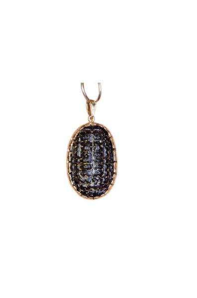 Black Jack Glass Necklace 1