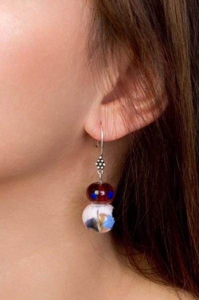 Purple Glass Earrings 1