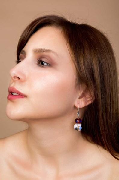Purple Glass Earrings 2