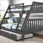 Layton Dark Grey Twin Over Full Bunk Bed With Trundle Cleo S Furniture
