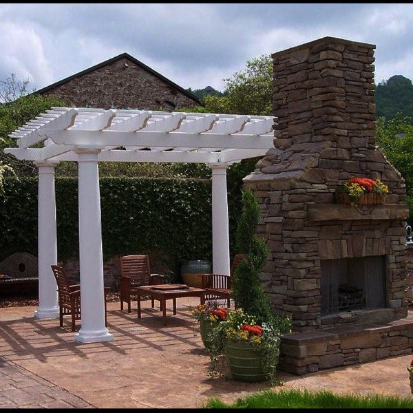 Fiberglass Outdoor Pergola Kit - Column Centers 10' X Chadsworth Columns