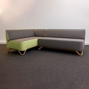 Sofa Mod. SOFT – grau/grün
