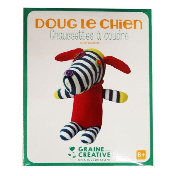 Chaussettes à coudre doug le chien