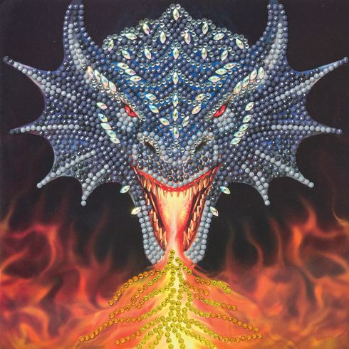 Perles à coller dragon