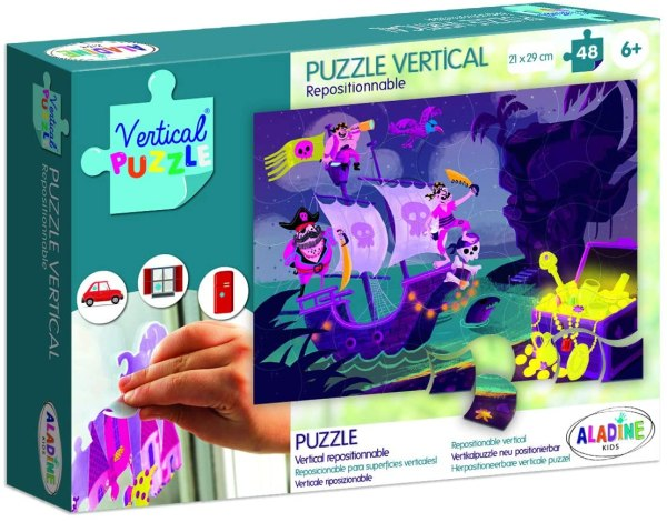 Puzzle vertical repositionnable Pirate