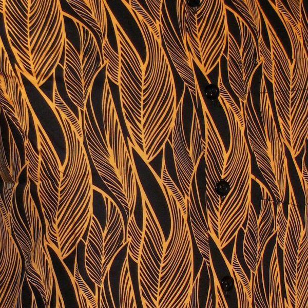 Chenaski Kurzarmhemd Leaves Schwarz-ovaltine