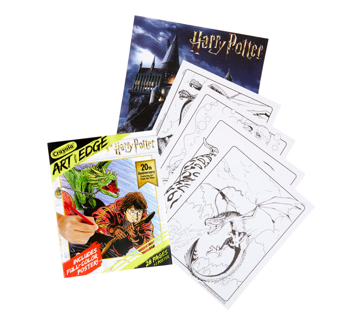 Harry Potter Coloring Book For Teens Adults Crayola Com Crayola