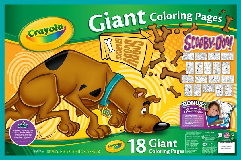 giant coloring pages  scooby doo  crayola