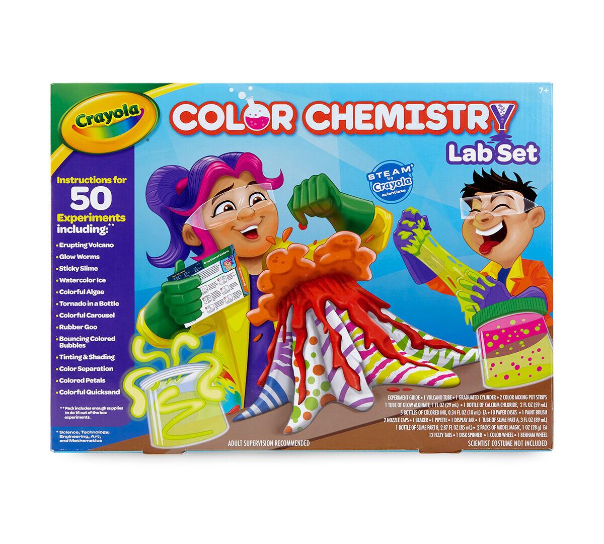 Crayola Color Chemistry Set Kids Over 50 Steam Stem