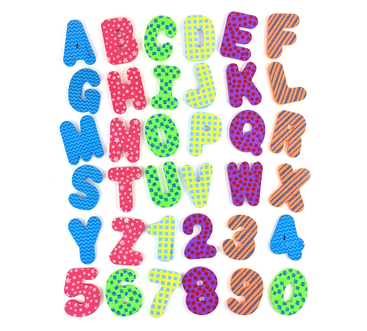 36 Foam Bath Letters Numbers Crayola