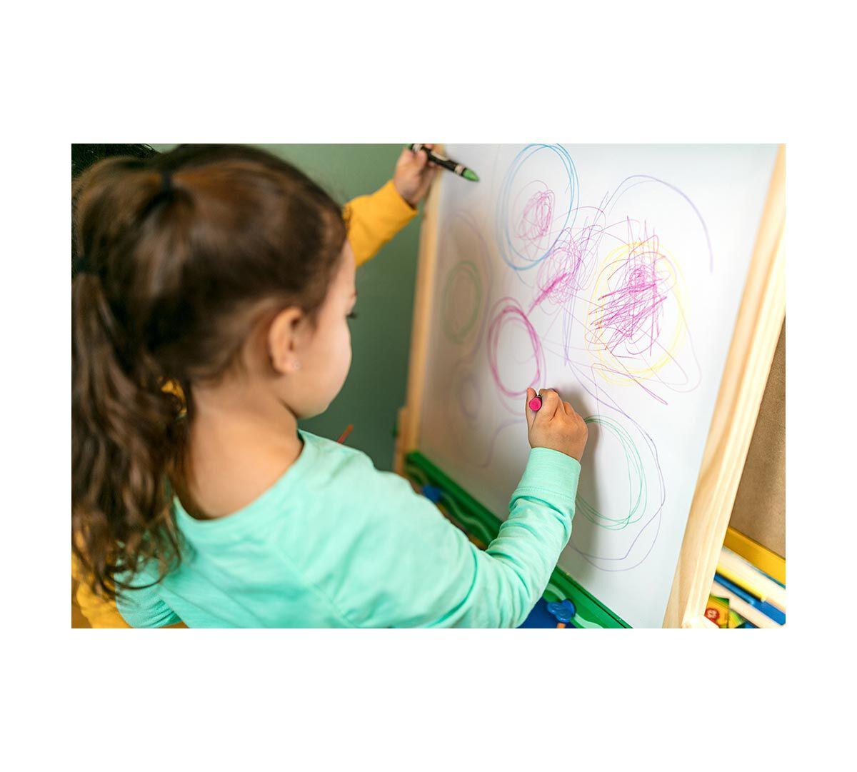 Crayola Kid' Wooden Easel Dry Erase Board & Chalkboard Kids Age 4 5 6 7
