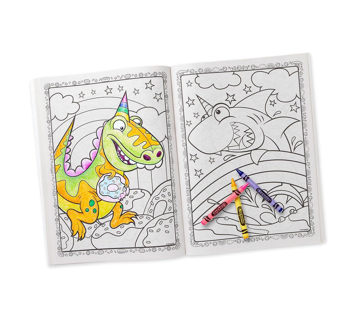Uni Creatures Coloring Book Amp Sticker Sheet