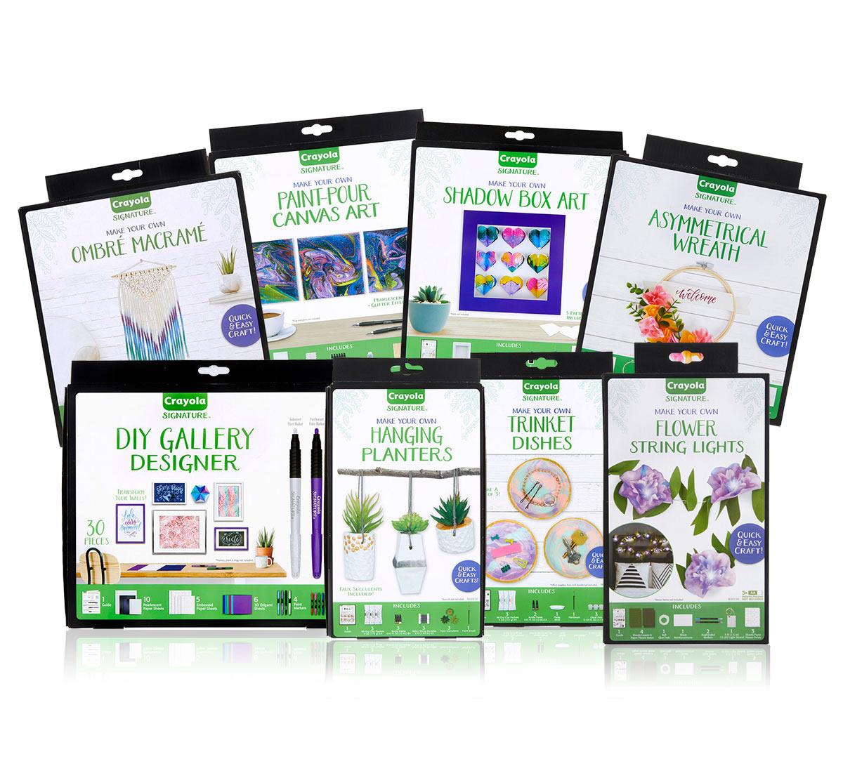 Signature 8 In 1 Adult Craft Kit You Pick Crayola Com Crayola