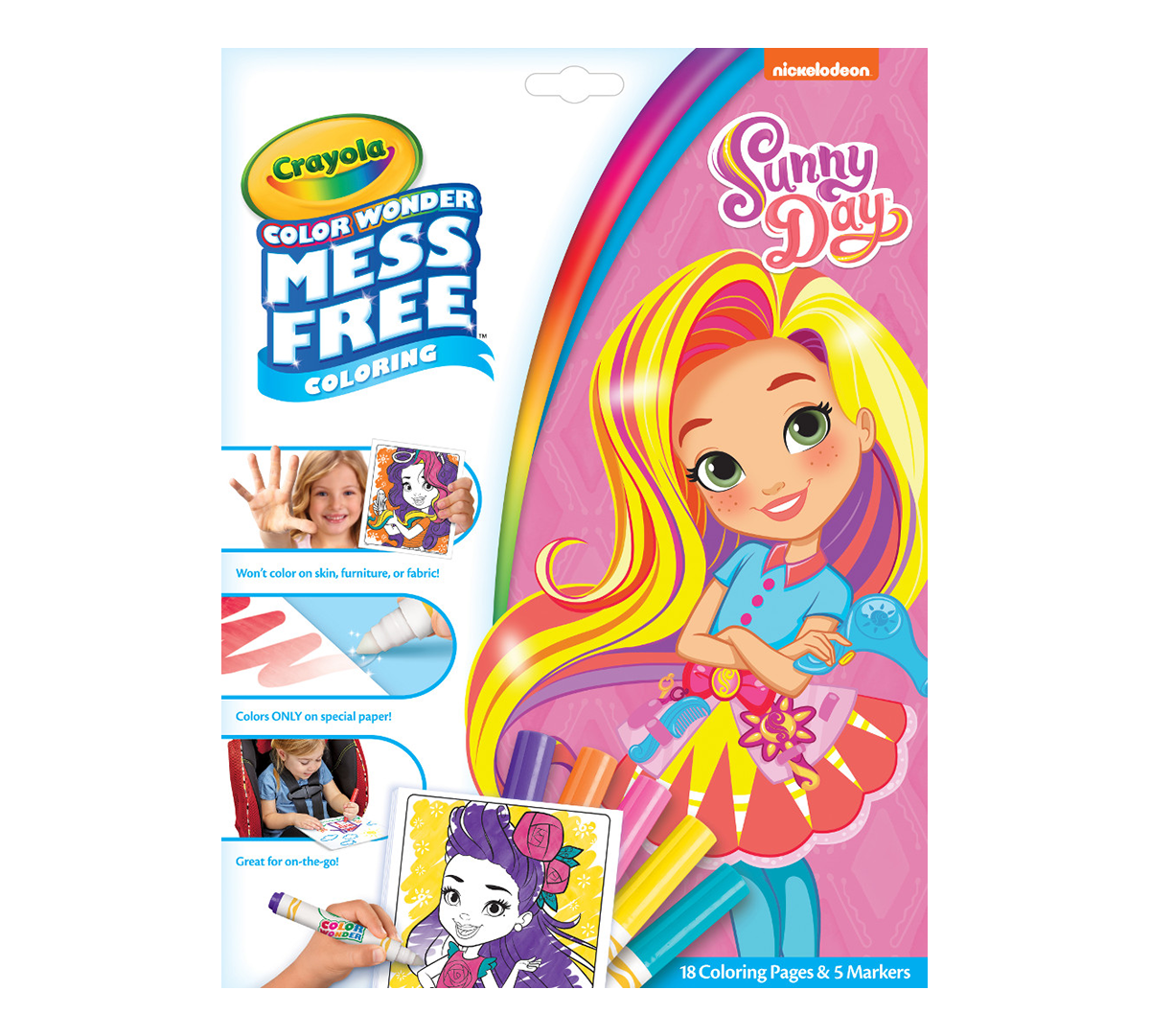 Color Wonder Mess Free Sunny Day Coloring Pages Markers Crayola Com Crayola
