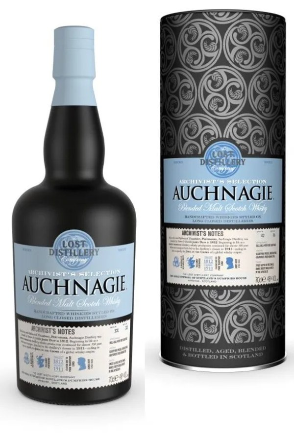 The Lost Distillery Company Auchnagie Archivist Selection Gift Tin 46% 70cl