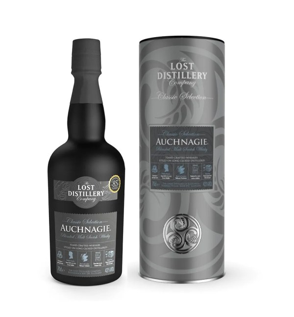 Auchnagie classic selection gift tin highland whisky malt lost distillery