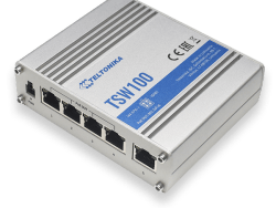 TSW100 – Switch no gestionable, 5xGbE, 4xPOE 802.3at/af