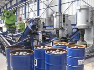 Пневматические ковочные молоты для производства стальных шаров