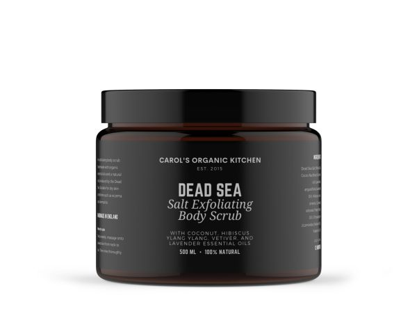 Dead Sea Salt Body Scrub - Carol's Organic Kitchen