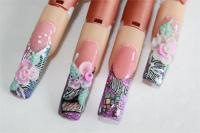Fimo Inlay Nail Art-Animal Print #4