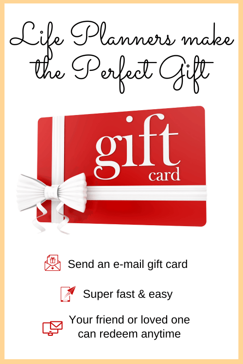 Gift Cards Available for All Life Planners