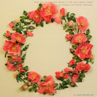 Rose wreath kit from little flowers book