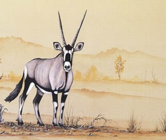 Gemsbok - A4 (Medium) embroidery panel, ready to embroider