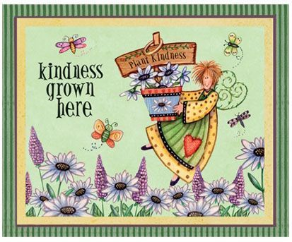 Kindness Grown Here embroidery panel, ready to embroider