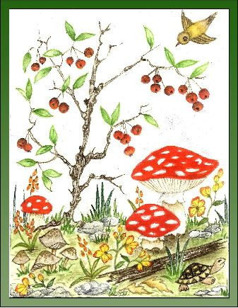 Berry Tree embroidery panel, ready to embroider