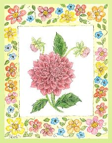 Floral Frame embroidery panel, ready to embroider