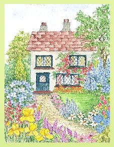 Garden Shed embroidery panel, ready to embroider