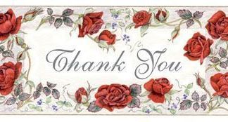 Thank You embroidery panel, ready to embroider