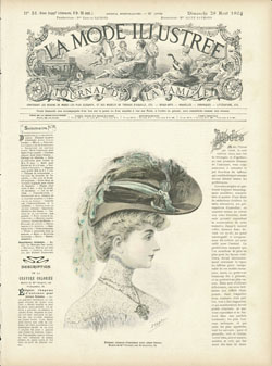 Vintage Prints Lady 5 embroidery panel, ready to embroider