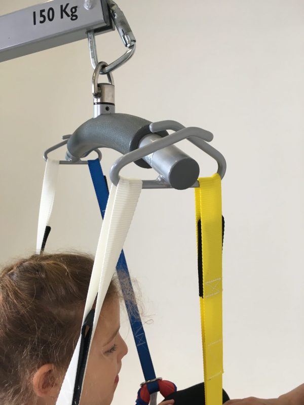ProMove yellow sling strap on a hoist