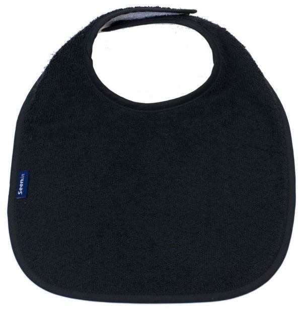 Seenin dribble bib for a disabled child in black