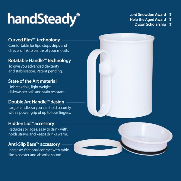 Handsteady drinking aid diagram